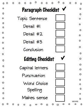 Checklist essay editing