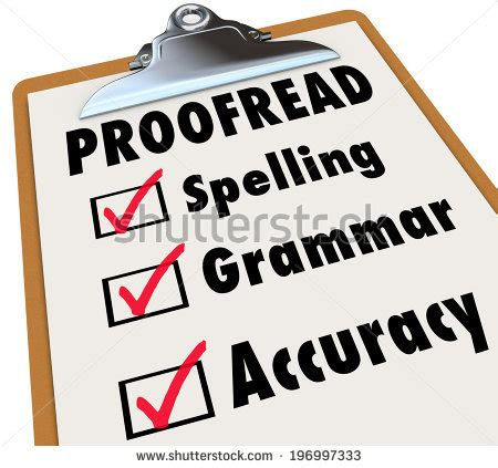 5 Useful Revising, Editing, and Proofreading Checklists
